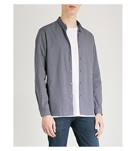 THE KOOPLES Diamond-pattern slim-fit cotton shirt (Nav03