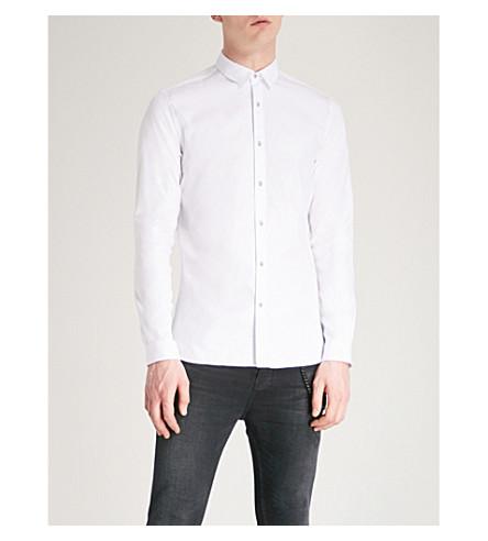THE KOOPLES Slim-fit cotton-piqué shirt (Whi01