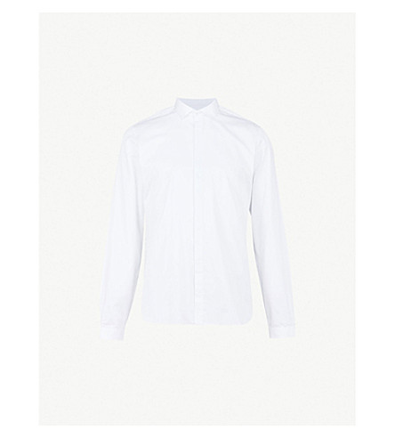 THE KOOPLES Fitted tonal-patterned cotton shirt (Whi01