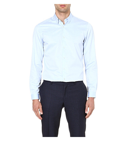 THE KOOPLES Classic cotton-twill shirt (Blue