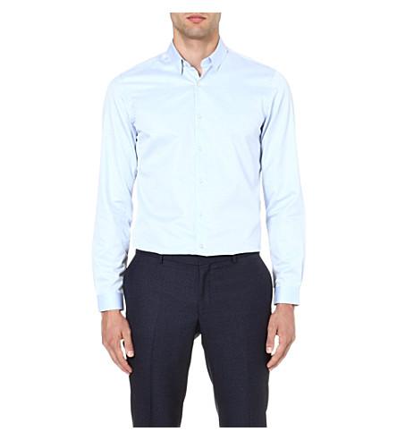 THE KOOPLES Classic cotton-twill shirt (Blue