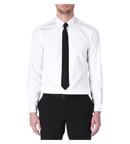 THE KOOPLES Classic cotton-twill shirt (White