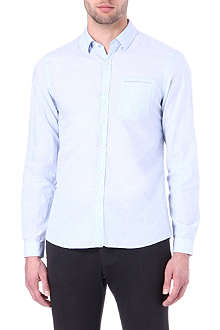 THE KOOPLES SPORT Linen adjusted-fit single-cuff shirt