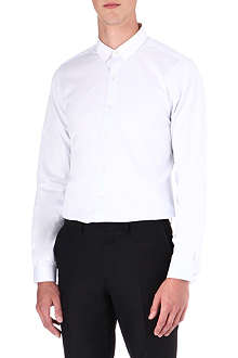 THE KOOPLES Fit cut solid cotton pique shirt