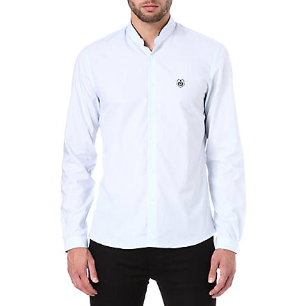 THE KOOPLES SPORT Striped cotton poplin shirt (Sky