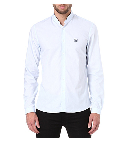 THE KOOPLES SPORT Striped cotton-poplin shirt (Sky
