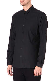 THE KOOPLES Fitted micro-pattern cotton shirt