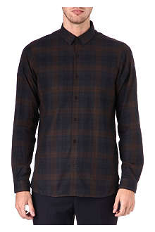 THE KOOPLES Fitted tartan checked shirt