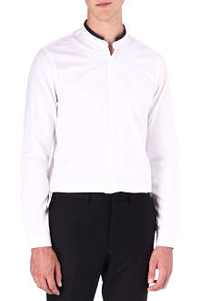 THE KOOPLES Fit-cut single-cuff grosgrain collar shirt