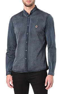 THE KOOPLES SPORT Open collar denim shirt