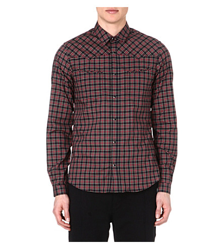 THE KOOPLES SPORT Western-style checked shirt (Red-navy-vert