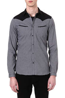 THE KOOPLES Microcheck slim-fit cotton shirt