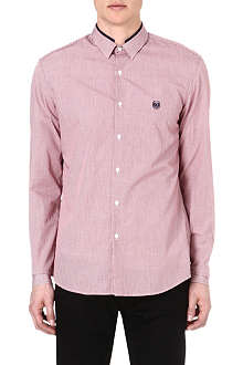 THE KOOPLES SPORT Contrast-trim checked shirt