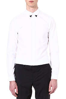 THE KOOPLES Graphic slim-fit cotton-poplin shirt
