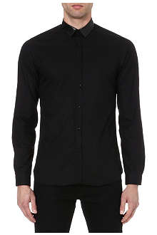 THE KOOPLES Snakeskin-effect collar shirt