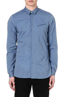 THE KOOPLES Slim-fit chambray shirt
