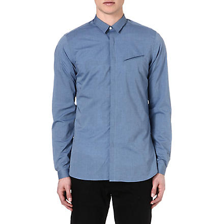 THE KOOPLES Slim-fit chambray shirt (Blue