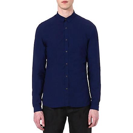 THE KOOPLES Denim-style slim-fit shirt (Blue