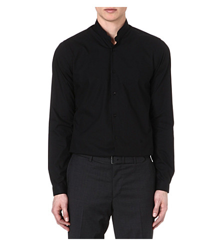 THE KOOPLES Stand-collar slim-fit shirt (Black