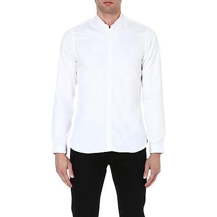 THE KOOPLES Mandarin collar cotton shirt (White