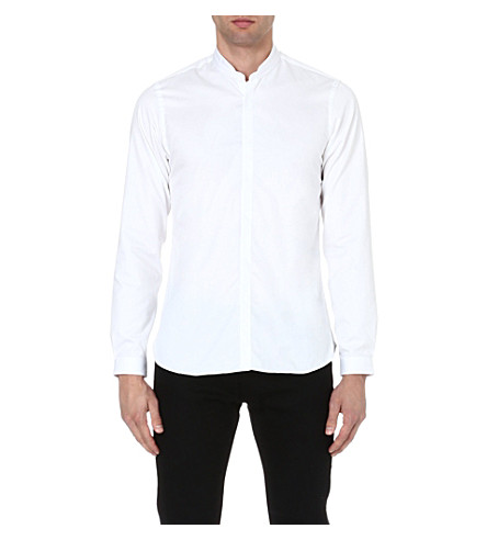 THE KOOPLES Mandarin collar cotton shirt (White
