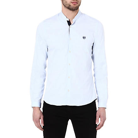 THE KOOPLES SPORT Oxford shirt with stand collar (Blue