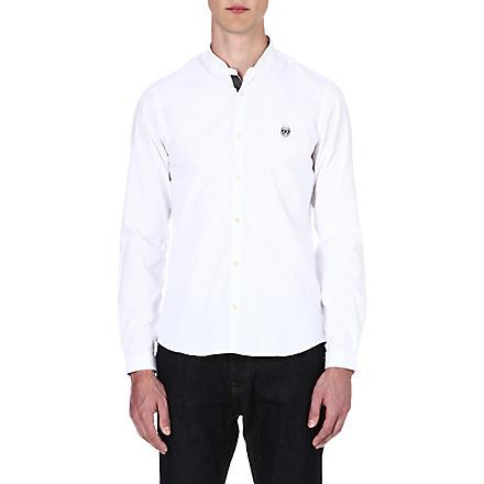 THE KOOPLES SPORT Mandarin collar cotton shirt (White