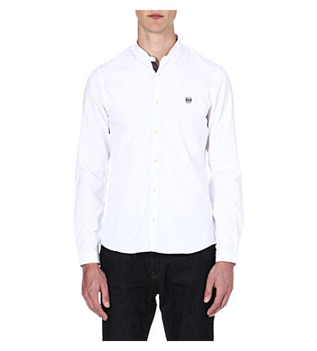 THE KOOPLES SPORT Mandarin collar cotton shirt (White