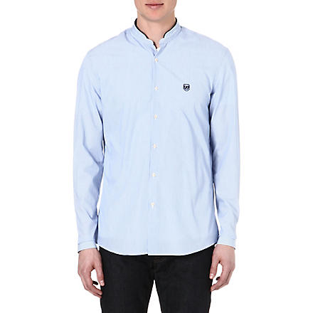 THE KOOPLES SPORT Stand-collar regular-fit shirt (Blue
