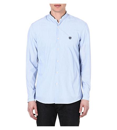 THE KOOPLES SPORT Stand-collar regular-fit shirt (Blue