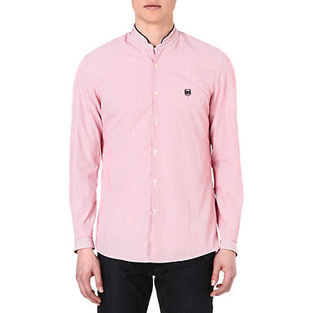 THE KOOPLES SPORT Stand-collar regular-fit shirt (Cherry
