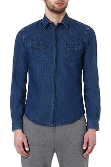 THE KOOPLES SPORT Denim shirt with western details