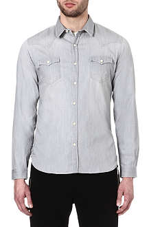 THE KOOPLES SPORT Washed denim shirt