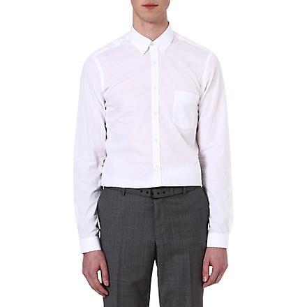 THE KOOPLES Chambray slim-fit cotton shirt (White