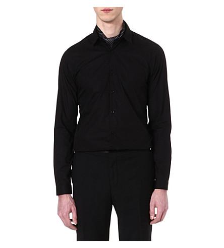 THE KOOPLES Slim-fit cotton-poplin shirt (Black