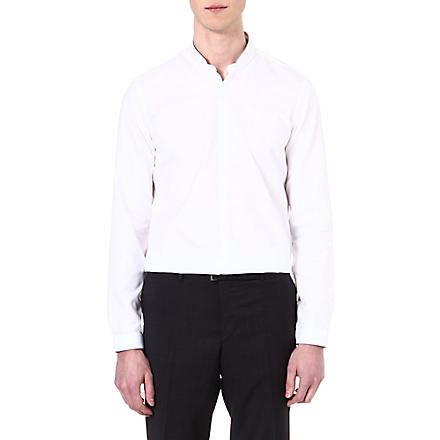 THE KOOPLES Standup collar slim-fit cotton shirt (White