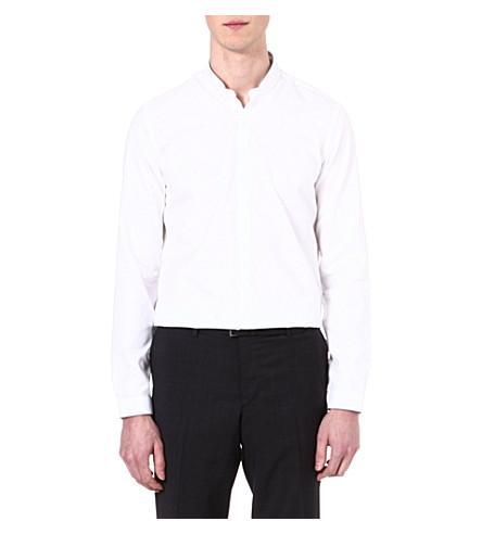 THE KOOPLES Standup collar slim-fit cotton shirt (White