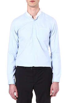 THE KOOPLES Standup collar slim-fit cotton-pique shirt