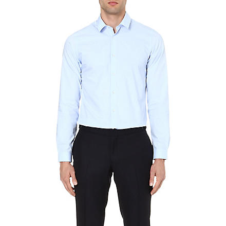 THE KOOPLES Cotton-poplin shirt (Blue