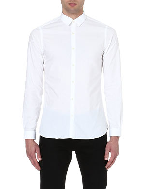 THE KOOPLES Plain cotton-poplin shirt