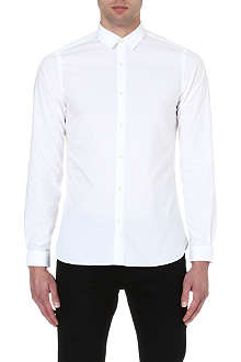 THE KOOPLES Plain slim-fit cotton-poplin shirt