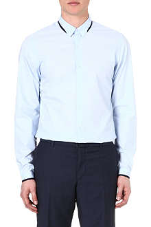 THE KOOPLES Grosgrain-trim regular-fit shirt