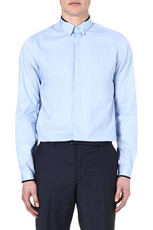 THE KOOPLES Grosgrain-trim slim-fit shirt