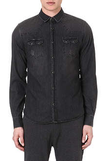 THE KOOPLES SPORT Western-detailed denim shirt