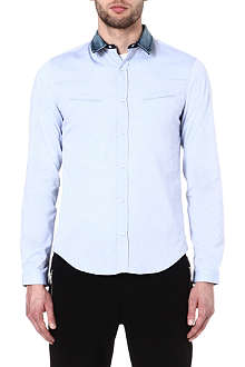 THE KOOPLES SPORT Oxford shirt with denim collar