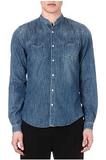 THE KOOPLES SPORT Stand-collar denim shirt