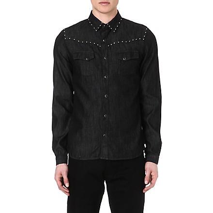 THE KOOPLES Slim-fit denim shirt (Black