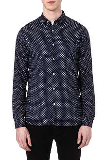THE KOOPLES Micro stars-print slim-fit shirt