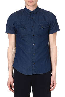 THE KOOPLES SPORT Short-sleeved denim shirt