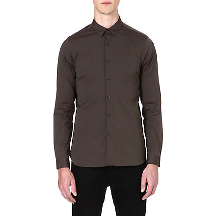 THE KOOPLES Slim-fit stretch-cotton shirt (Kaki
